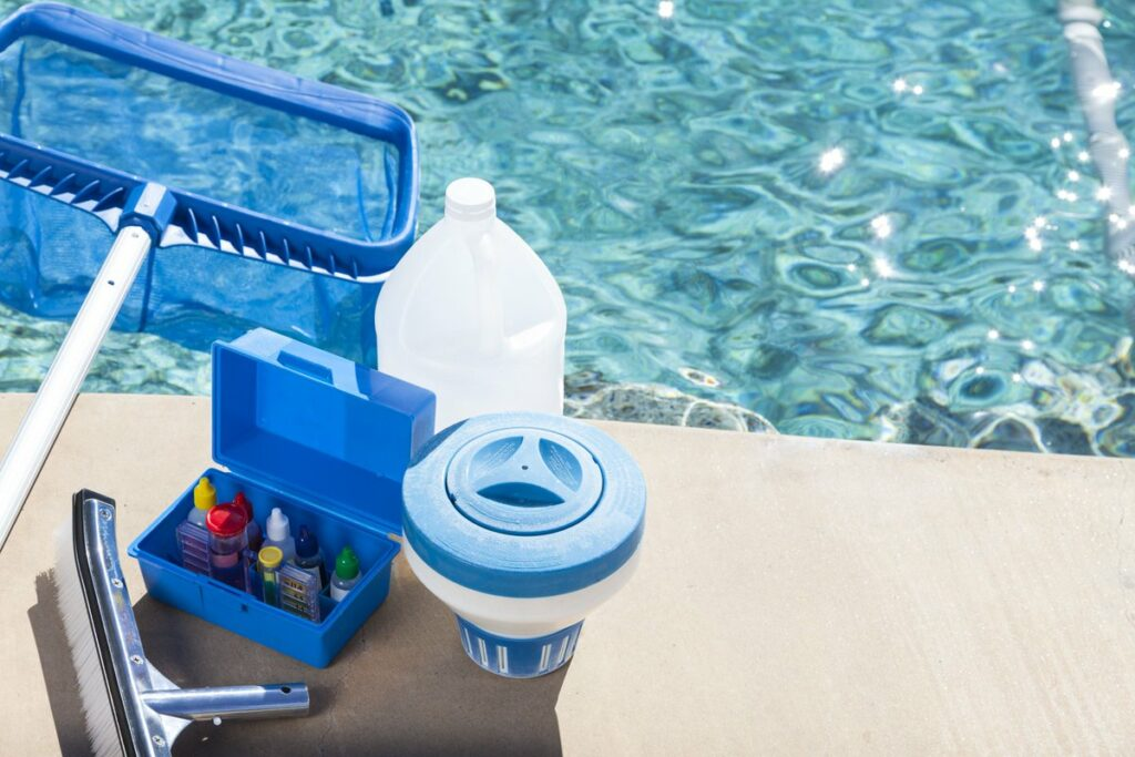 Pool sanitization company --tools of pool cleaning