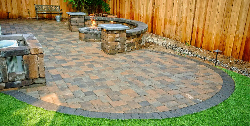 Simple Paver patio Design company in New Jersey - Custom Pool pros