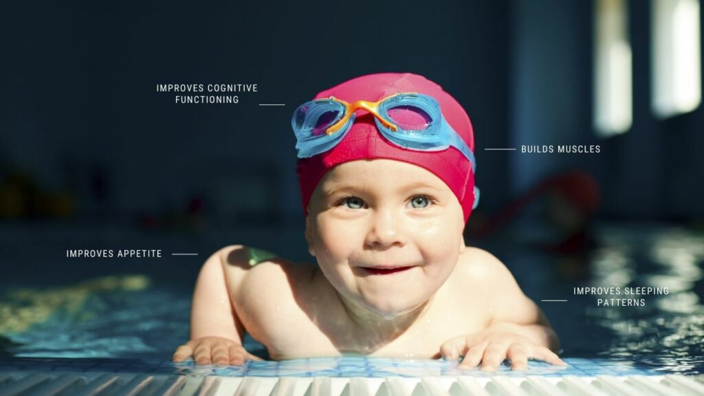 infant swimming comes with lots of potential benefits